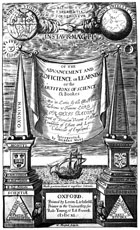 1640 Advancement of Learning titlepage